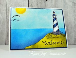 Gina K. Designs By the Sea, By the Sea II with Avery Elle We R Family Additions Masculine Welcome Handmade Card