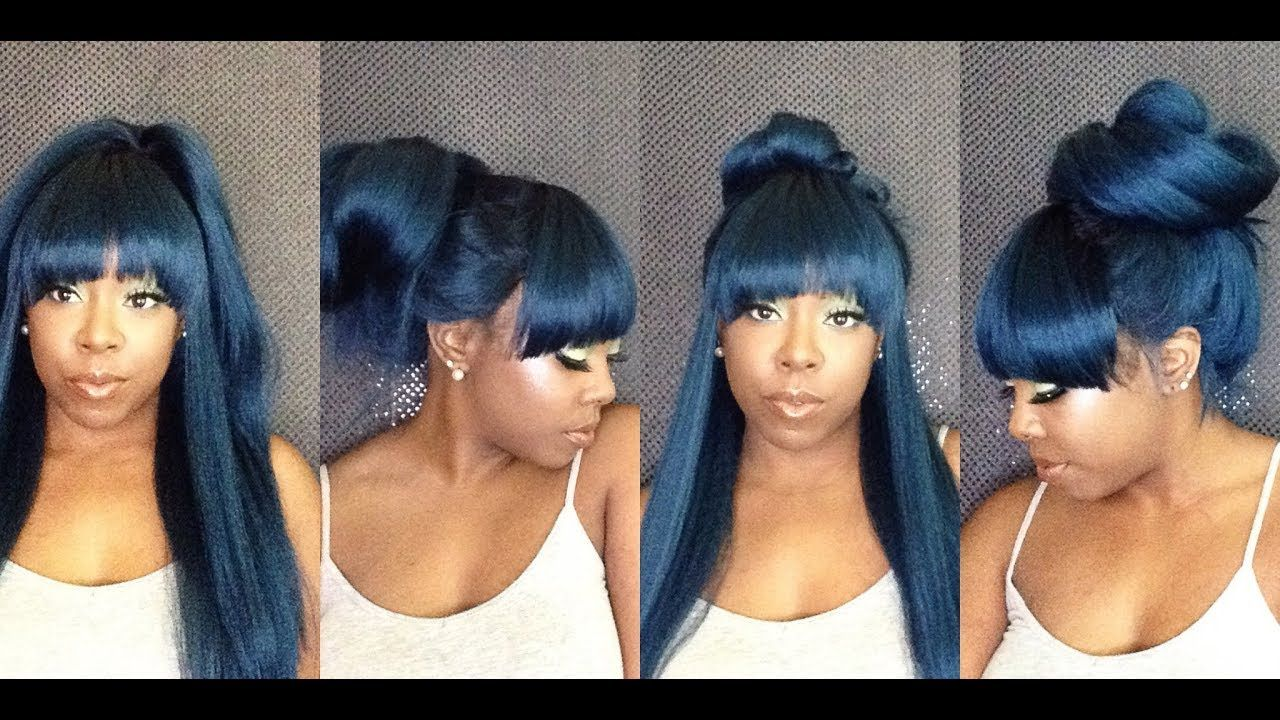 5 Ways To Style A Synthetic Wig With Bangs In Under 1 Minute Youtube Wigs With Bangs Wigs Synthetic Wigs