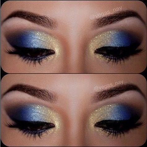 12 Gorgeous Blue and Gold Eye Makeup Looks and Tutorials – Pretty Designs