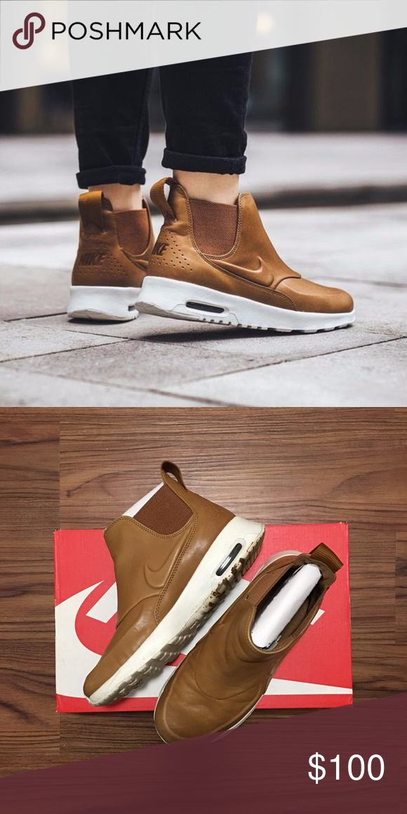 best website 5f37e 55371 NIKE AIR MAX THEA MID SZ 5.5W More photos available upon request ⚡ ⚡ SKU   859550-200    Women s Air Max Thea Mid in ale brown color. Worn twice.