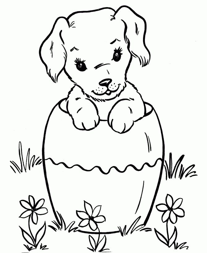 Free Printable Dog Coloring Pages For Kids Di 2020