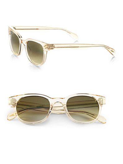 7d5c1afb5e Oliver Peoples - Afton Sun Acetate Round Sunglasses - Saks.com  405 ...
