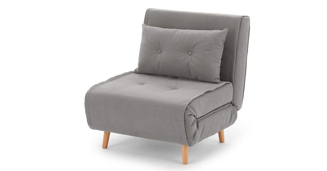 Haru Armchair Bed Marshmallow Gray Haru Armchair Bed