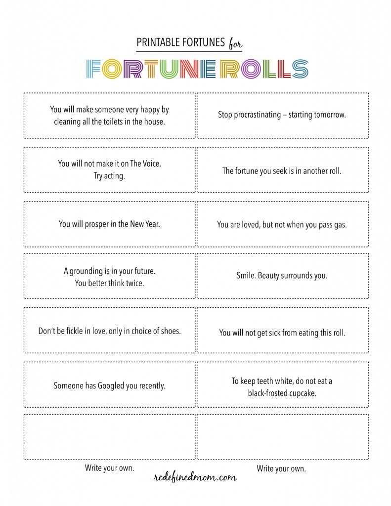 photo about Printable Fortunes referred to as Refreshing Calendar year Fortune Crescent Rolls + Absolutely free Printable Fortunes