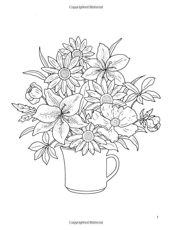 Amazon.com: Floral Bouquets Coloring Book (Dover Nature Coloring ...