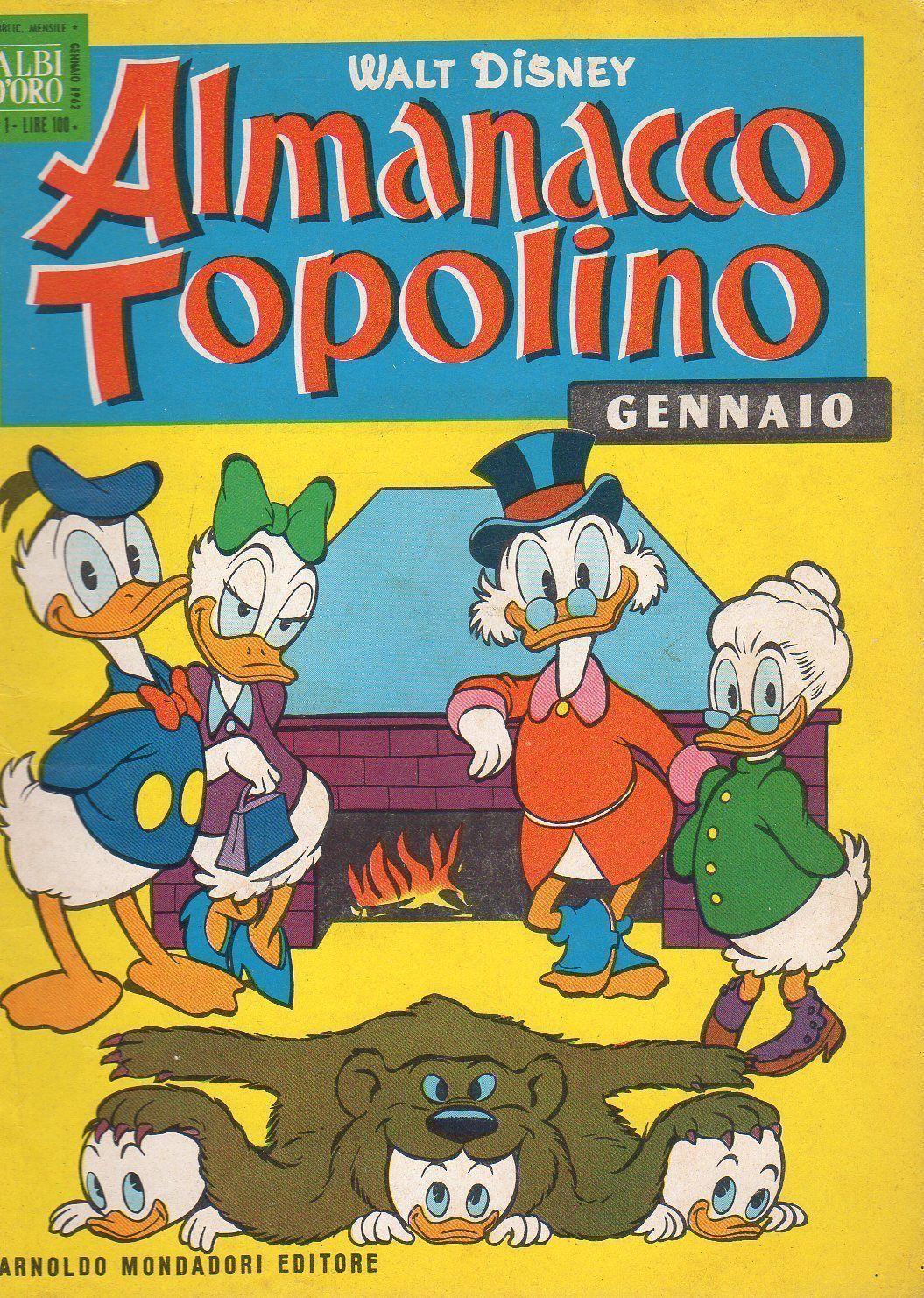 Sj4 Almanacco Di Topolino Anno 1962 Numero 1 Fumetti D Epoca Fumetti Famosi Copertina Fumetto