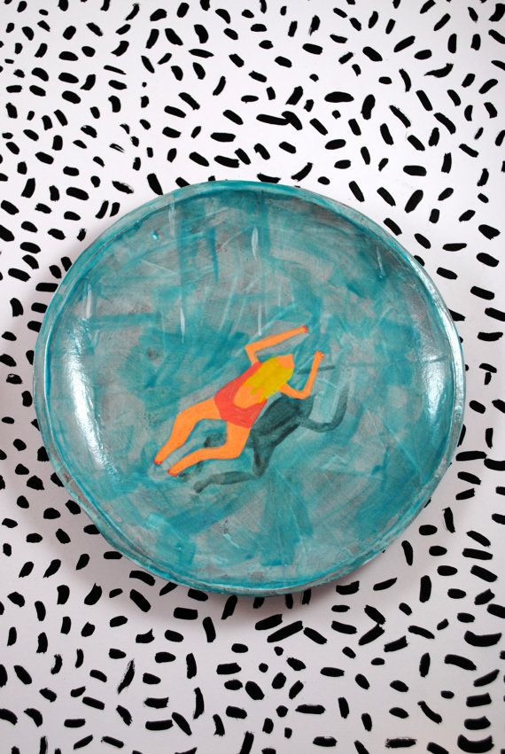 Swimming pool plate by Amy Worrall