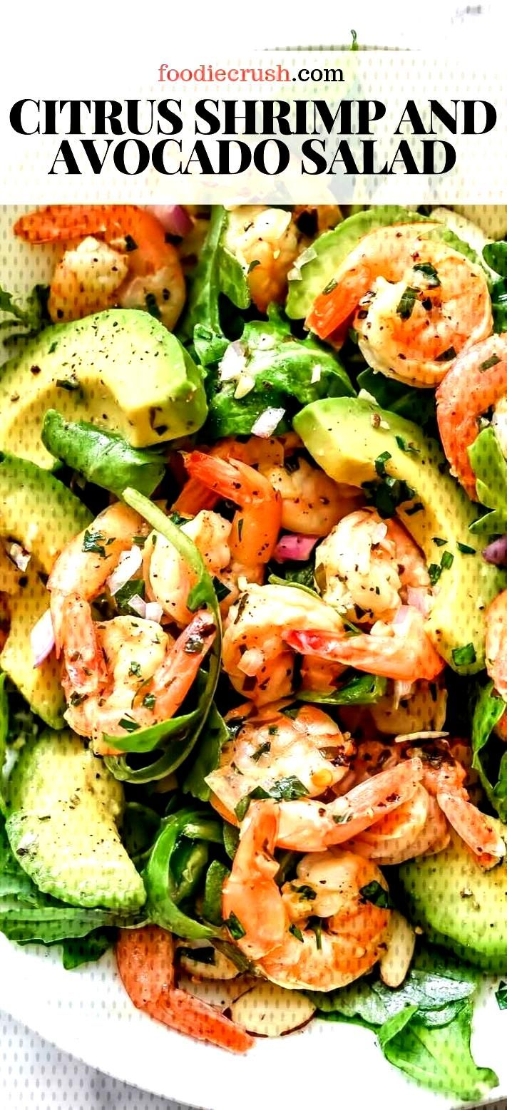 Citrus Shrimp And Avocado Salad |  This simple but totally flavorful salad makes the perfect meal-p