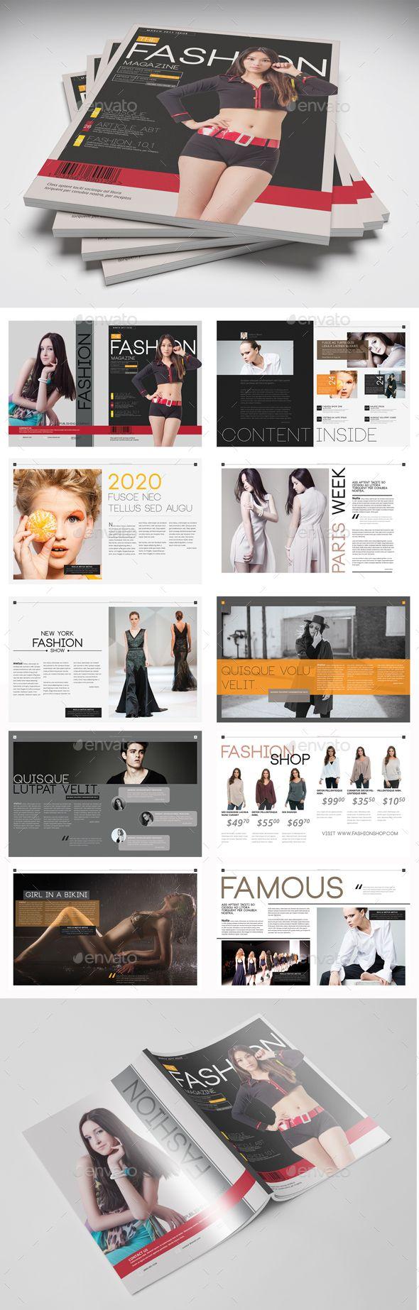 Template PSD Magazines Print
