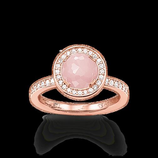 Rings Made From Sterling Silver Purchase Ladies Rings Thomas Sabo Rose Quartz Ring Thomas Sabo Ring Rose Quartz Ring Engagement
