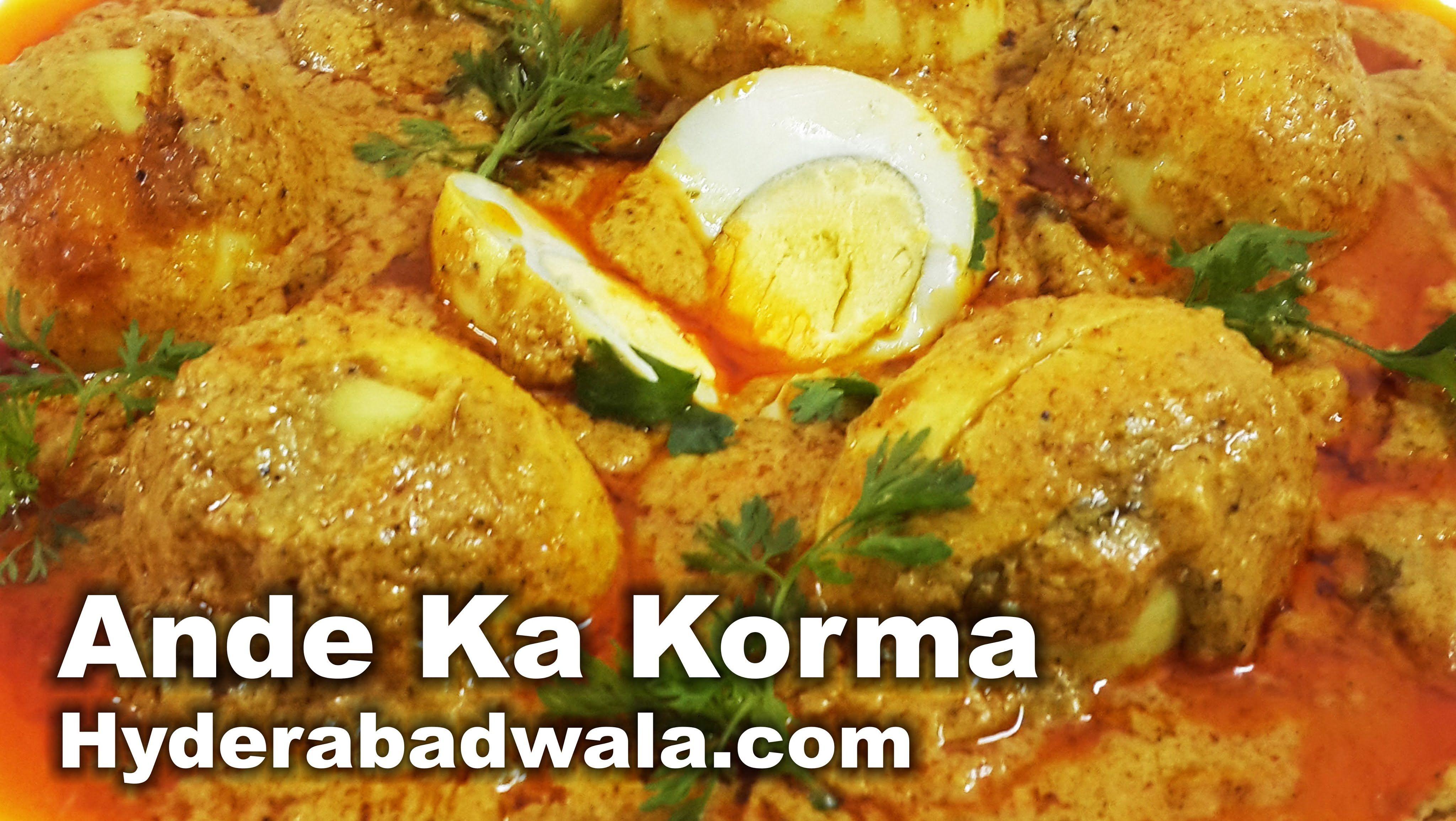 Ande ka korma recipe video hyderabadi egg masala curry at home food ande ka korma recipe video forumfinder Images