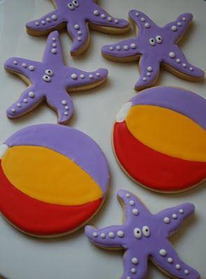 Starfish & Beach Ball Cookies!