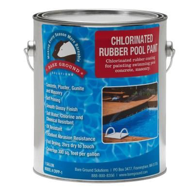 Bare Ground 1 Gal Chlorinated Rubberized Pool Paint Crpp 1 The Home Depot Pool Paint Saltwater Pool Pool