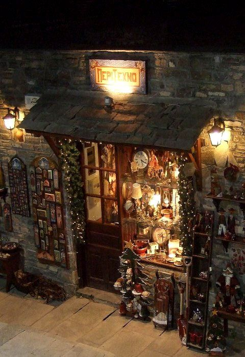 ~Christmas Shop.. Pelion, Magnesia, Greece~ (by Anna Giannakidou)