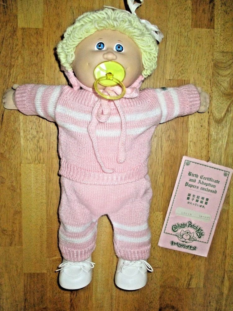 1984 Cabbage Patch Kids Tsukuda Pacifier Girl Doll Lucia Made In Japan Pacifier Girl Cabbage Patch Kids Kids