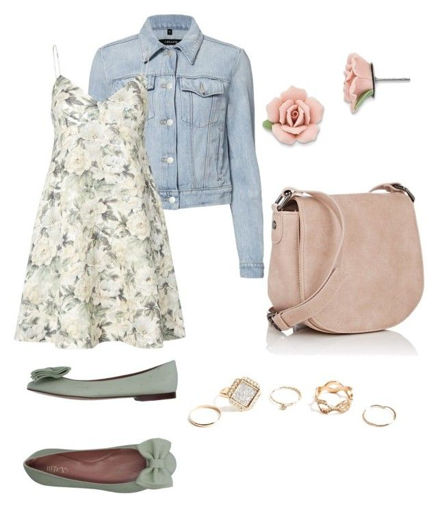 """true spring"" by ultraredviolet on Polyvore featuring J Brand, Zimmermann, RED Valentino, 1928, Deux Lux and GUESS"