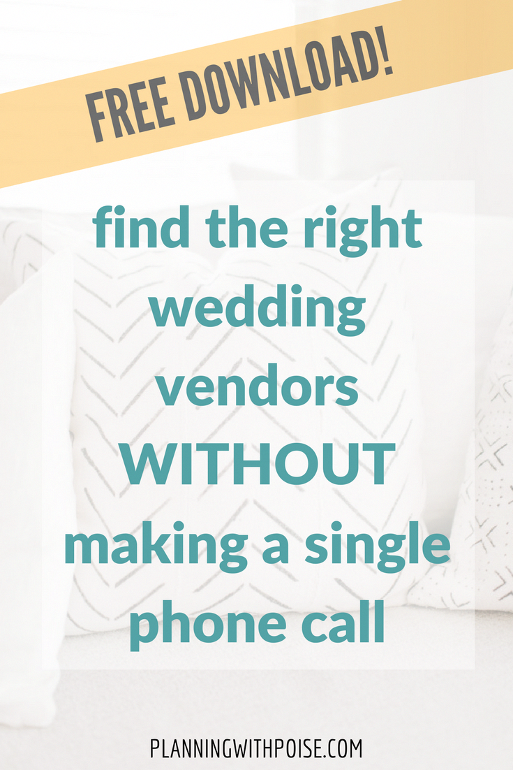 Stressfree Easy Fast Efficient Weddingplanning For People Who Don T Have Time To Make A Gazillion Phone Calls Use My Five Fr