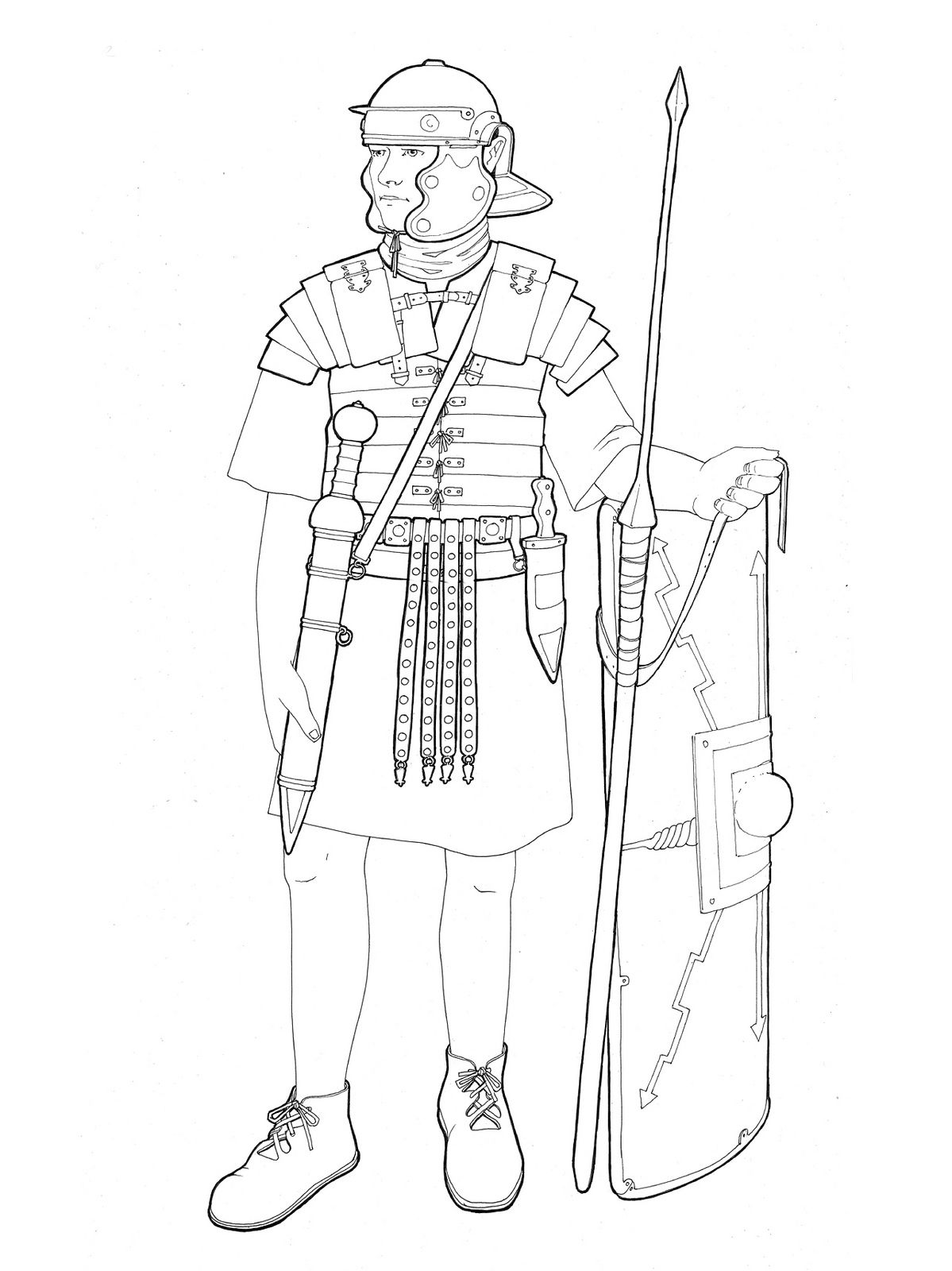 roman legionary (With images)   Soldier drawing, Roman ...