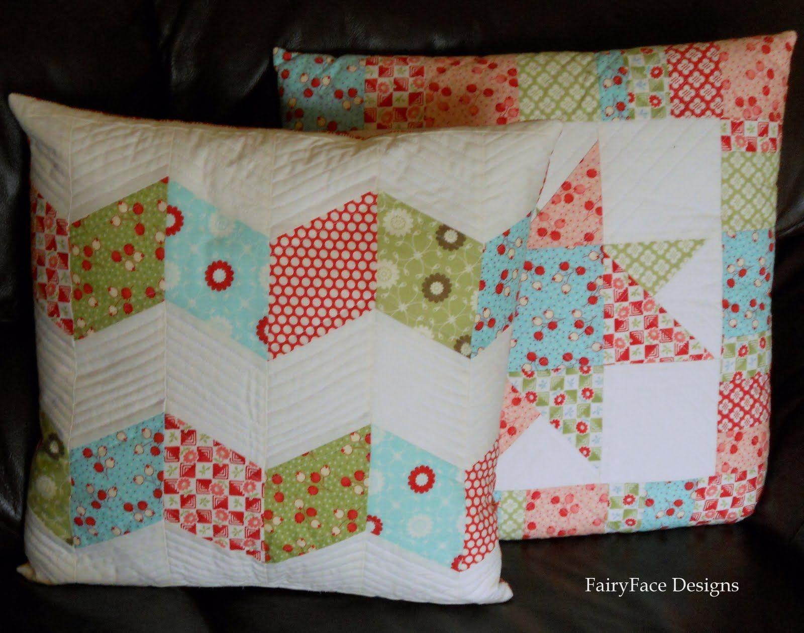 FairyFace Designs: Chunky ZigZag Pillow Tutorial