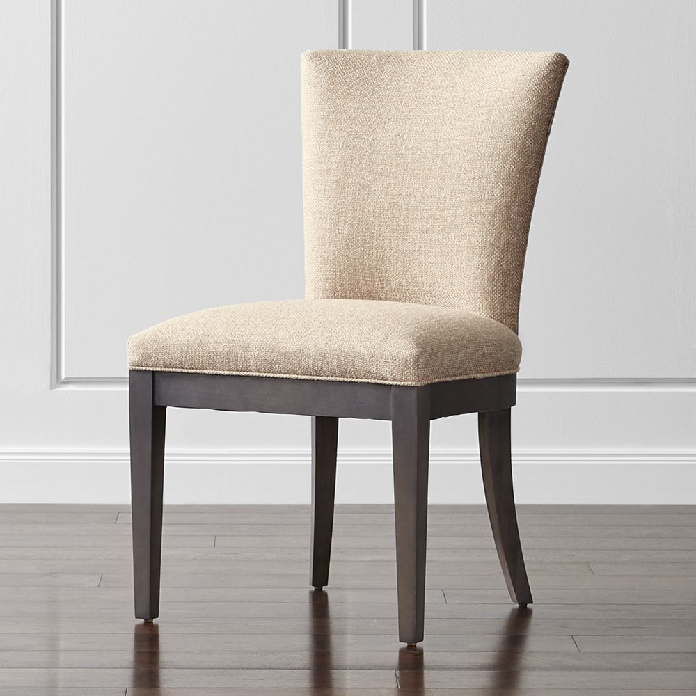 Clayton Upholstered Dining Chair  Crate And Barrel  Upholstered Endearing Barrel Dining Room Chairs Inspiration