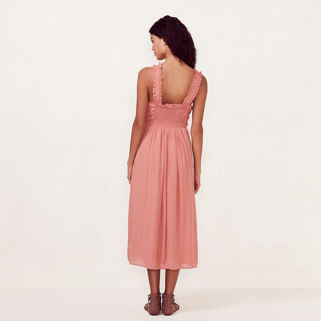 Women\'s LC Lauren Conrad Ruffle Twist Halter Midi Dress | Kohl\'s ...