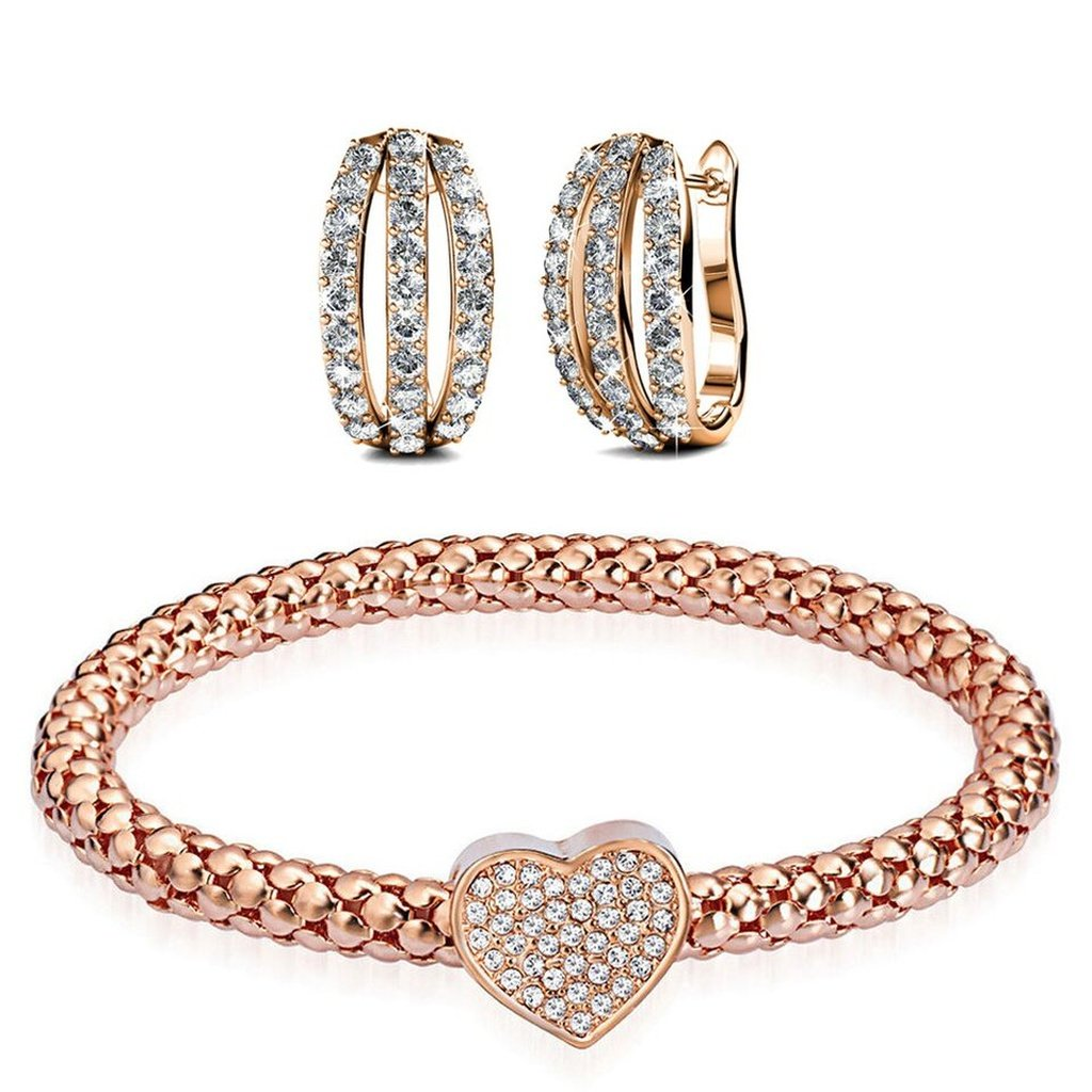 Rose gold bangle and earring set products pinterest products