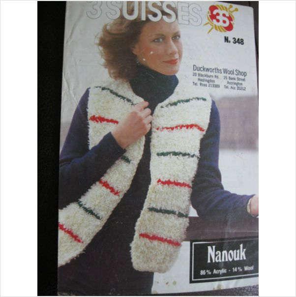 3 Suisses Knitting Pattern 348 Ladies Striped Gilet Bust 32 38