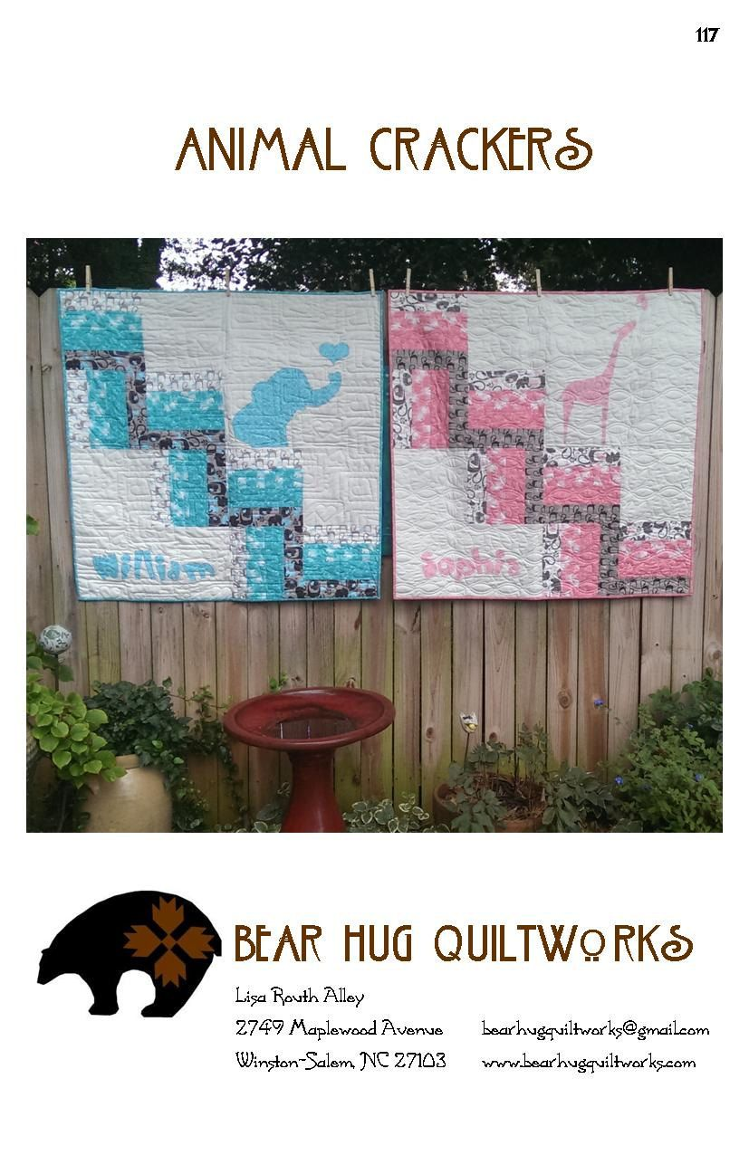 Animal Crackers Baby Quilt Pattern by BearHugQuiltworks on Etsy, $10.49