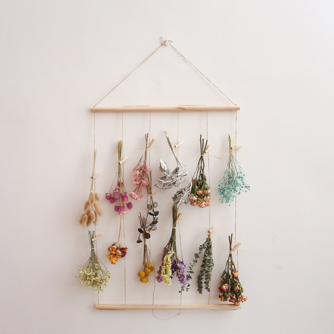 Dried Flowers Hanging Ins Decorative Hemp Rope Photo Wall Nordic