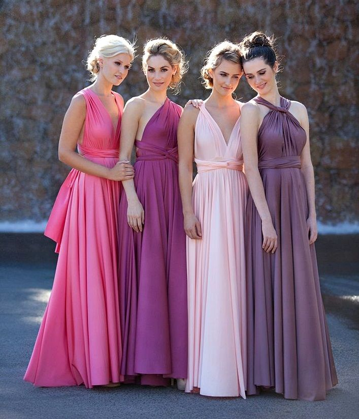 ideas on how to wear a convertible multiway dress, bridemaid dresses ...