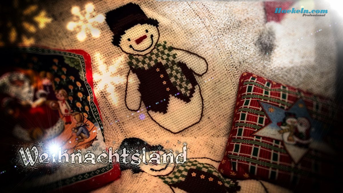 Häkeln zu Weihnachten • Schneemann Decke • Häkelanleitungen ...
