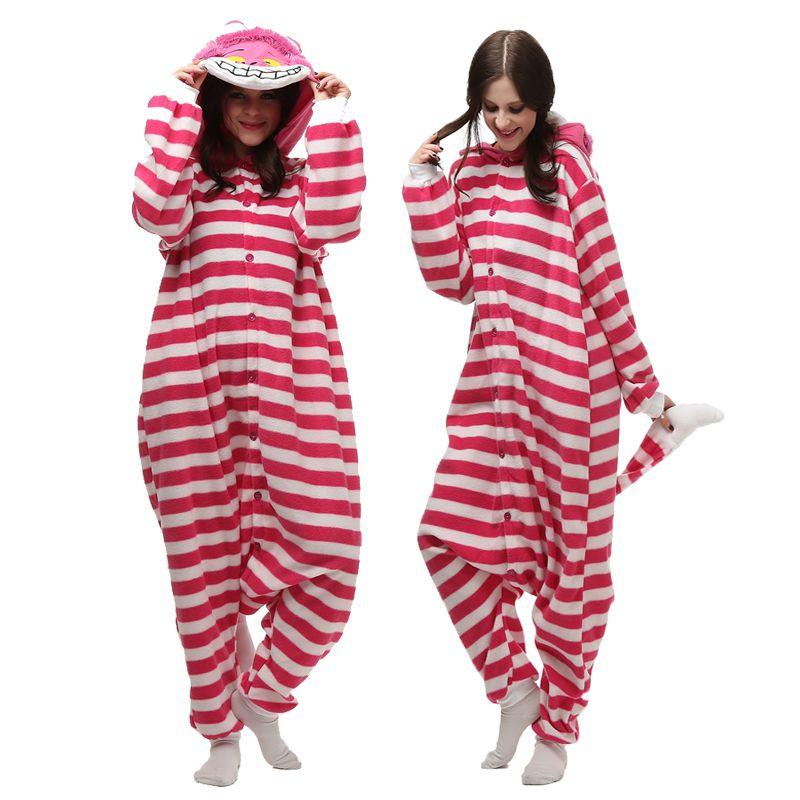 Free shipping jp anime cheshire cat onesie cosplay costume
