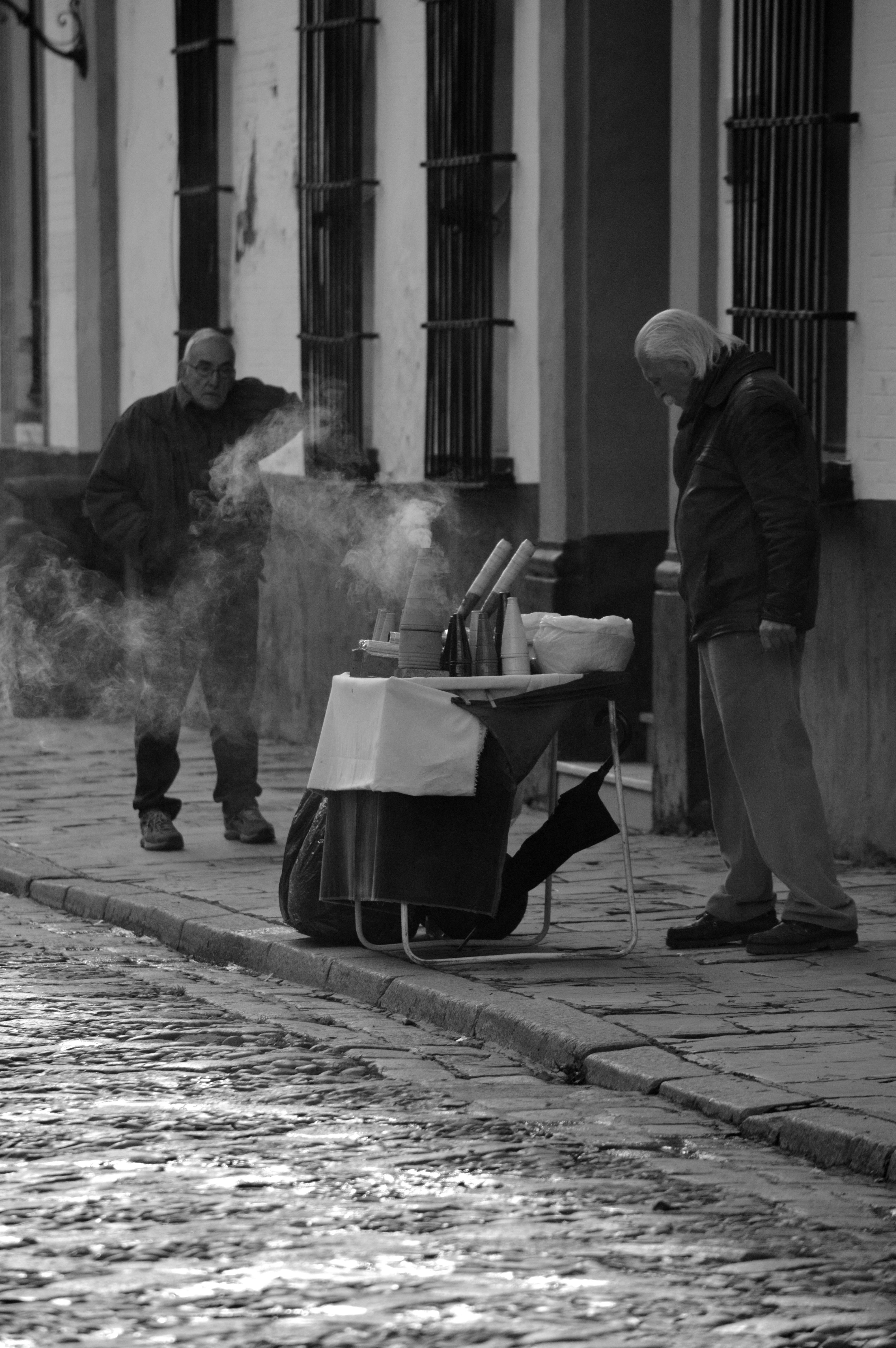 Sevilla, un día cualquiera de Enero. Plaza del Patio de Banderas.
