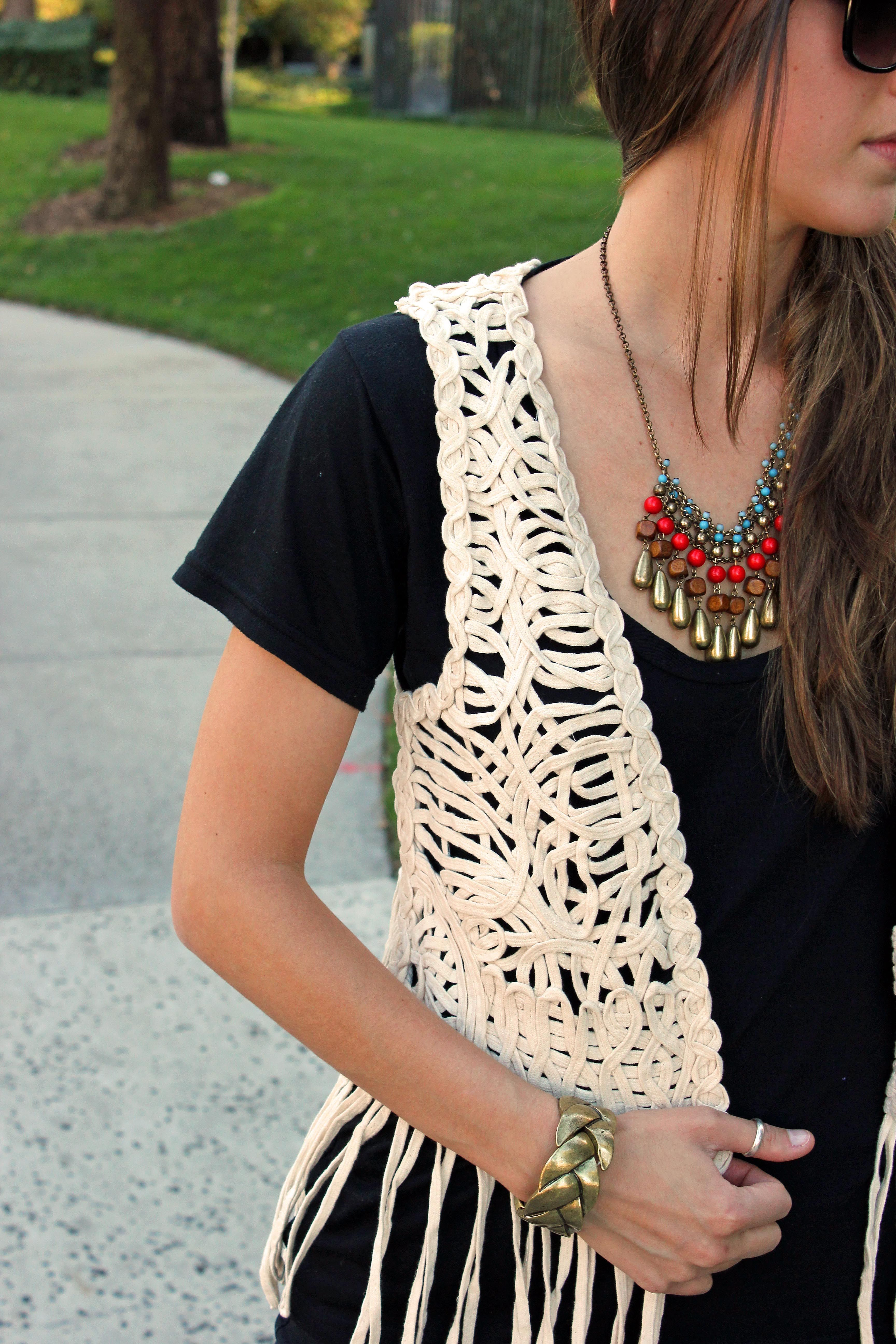Crochet Fringe Vest Outfit  Google Search