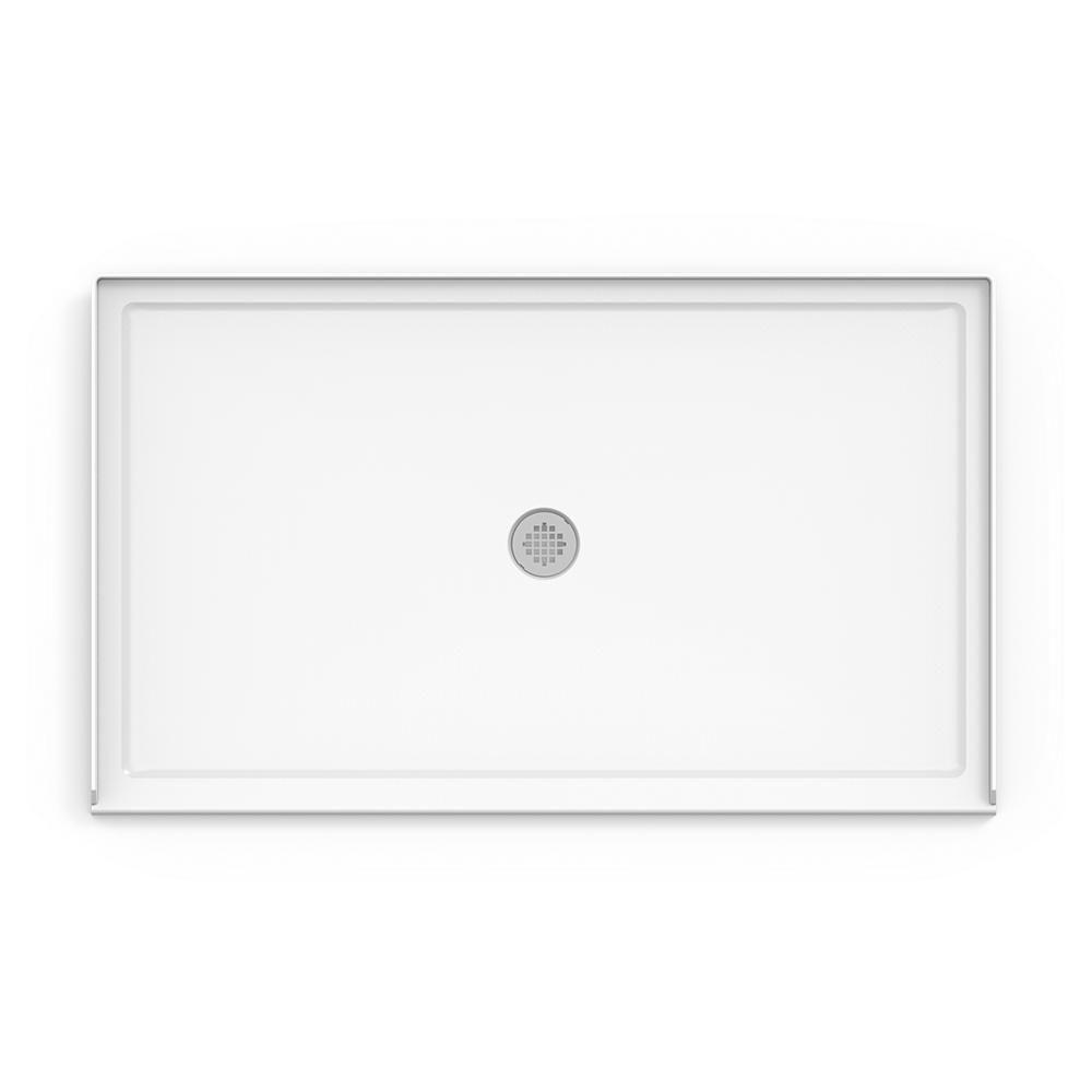 Jacuzzi 60 In X 36 In Center Drain 2 In Shower Base In White