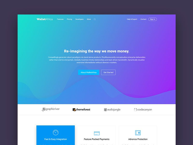 Online Money Transfer Walletafrica Is A Landing Page Template You Can Use To Create