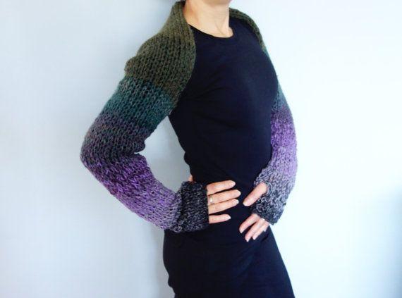Shrug Knitting PATTERN Multicoloured Fit Shrug/ Ombre | Puntadas ...