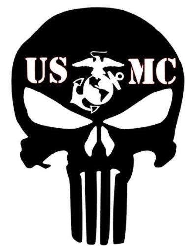 USMC Punisher Design Stickers Car Vinyl Decals JDM