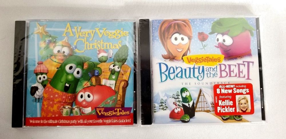 A Very Veggie Christmas.Lot Of 2 Veggie Tales A Very Veggie Christmas And Beauty