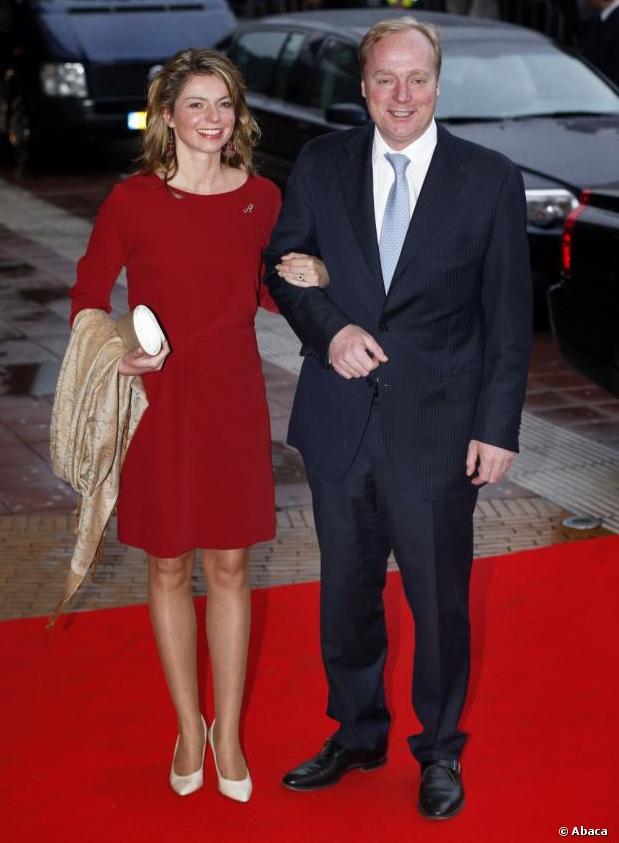 Princess Annemarie and Prince Carlos de Bourbon de Parme Celebration of the 75th anniversary of Queen Beatrix on 01 Feb 2013