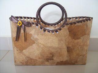 Coisas da Marian: Bolsa e carteira com caixa de leite e filtro de café