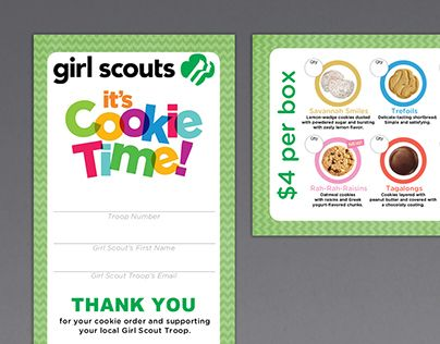 Girl scout troop wanted a business card that they could pass out to girl scout troop wanted a business card that they could pass out to potential customers while colourmoves
