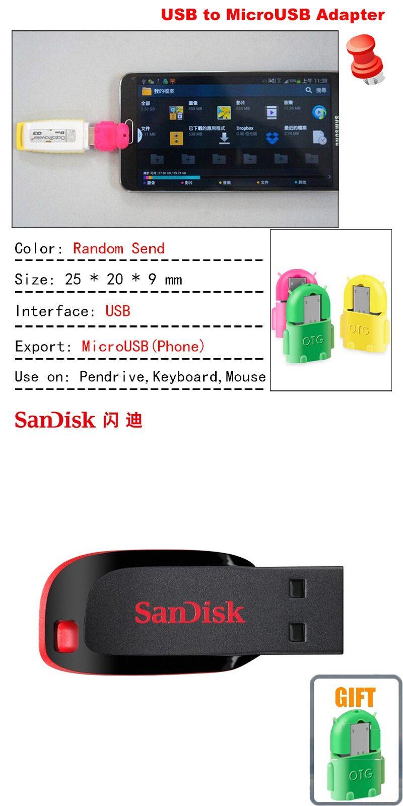 Sandisk Cz50 Usb Flash Drive 8gb 16gb 32gb 64gb 128gb 20 Memory Flashdisk Otg 32 Gb Stick Pen