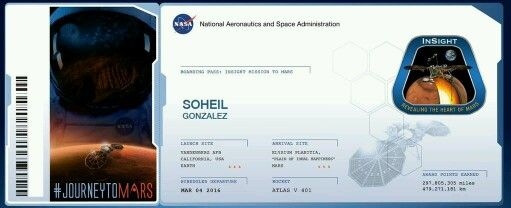 My Name Is Going To Fly On Nasa S Insight Lander Get Yours On