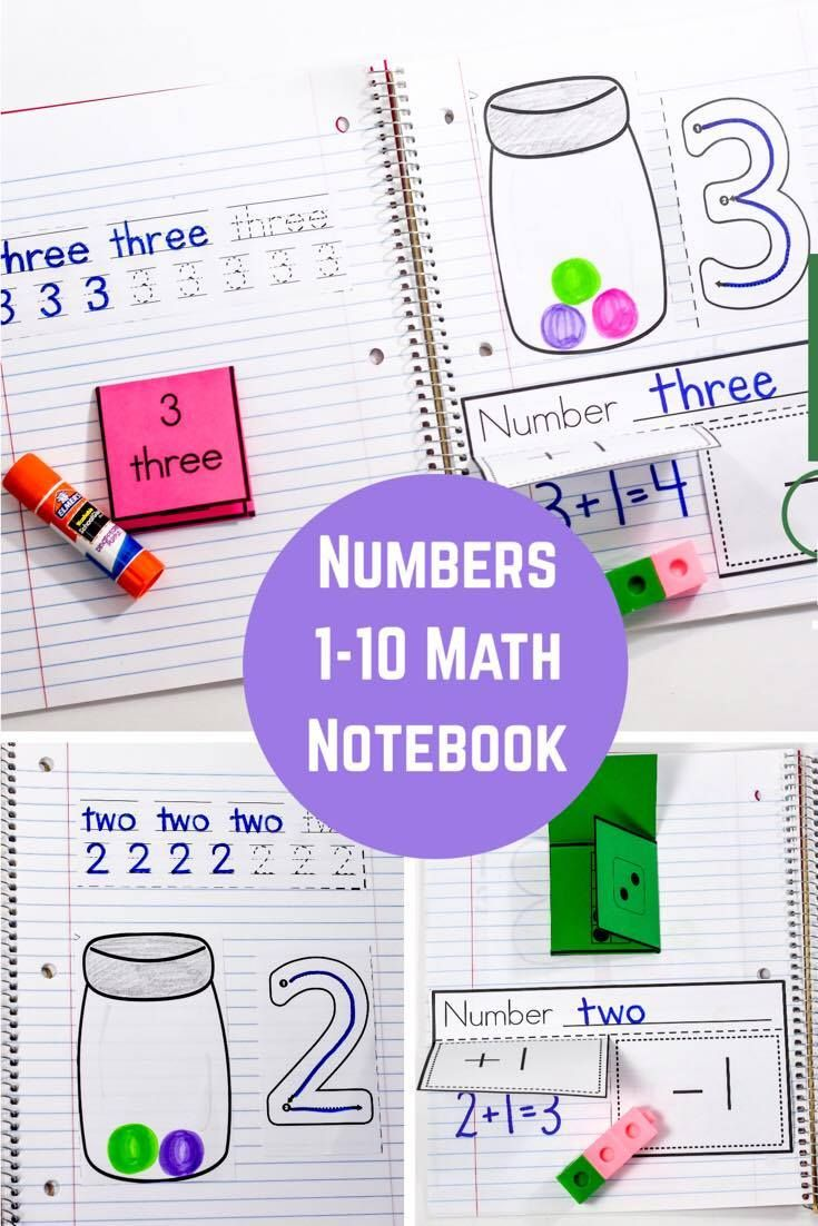 Interactive Math Notebook for Numbers 1-10 | Math notebooks, Numbers ...