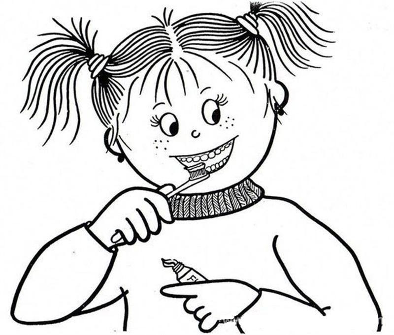Okul öncesi Diş Temizliği Boyama Sayfaları Okul öncesi Etkinlik