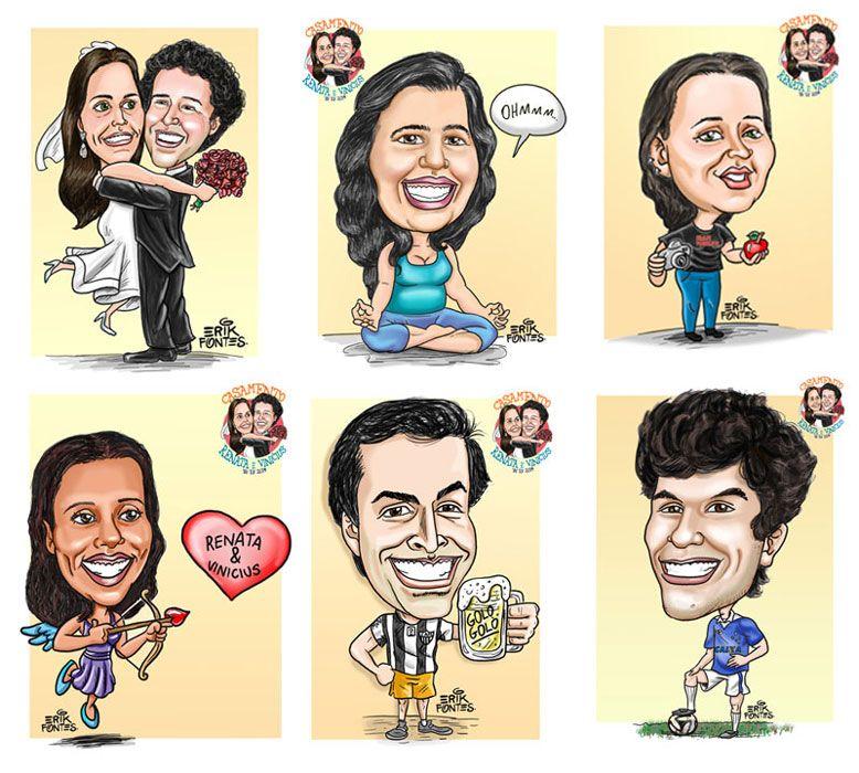 Caricaturas para noivos e casamento. http://www.caricaturabh.tumblr.com