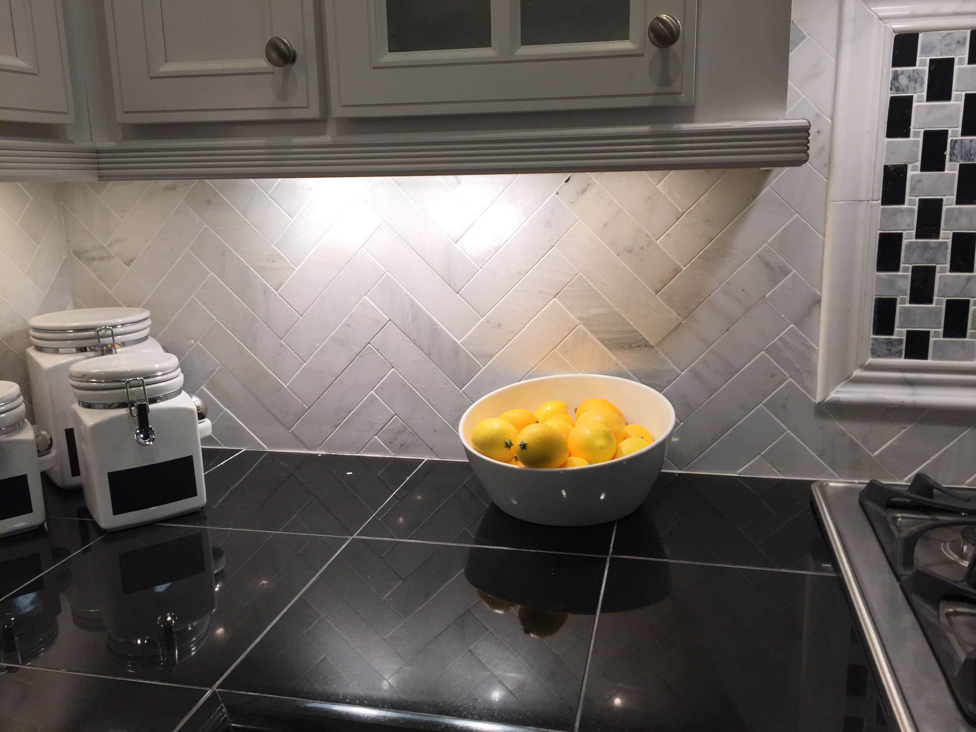 Kitchen Backsplash Hampton Carrara Pol 5x20cm The Tile Shop