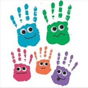 Id e atelier empreinte de main activit s enfants pinterest empreintes de main atelier et - Peinture main enfant ...