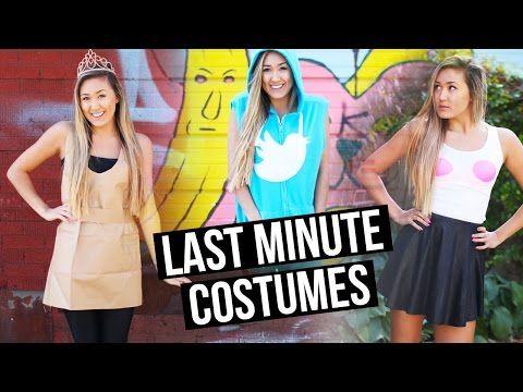DIY LAST MINUTE HALLOWEEN COSTUMES: Twitter, Mean Girls & Paper Bag Princess | LaurDIY